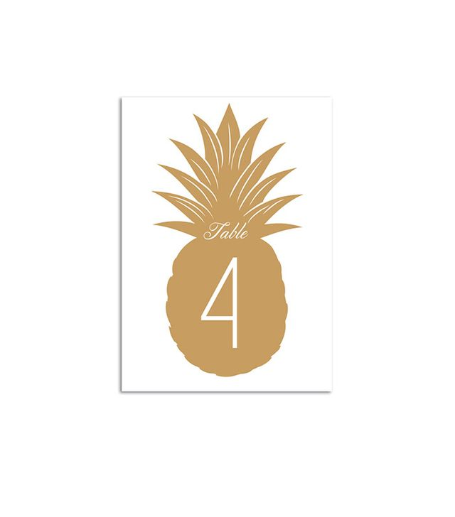 Conteur Co. Palm Beach Wedding Table Numbers