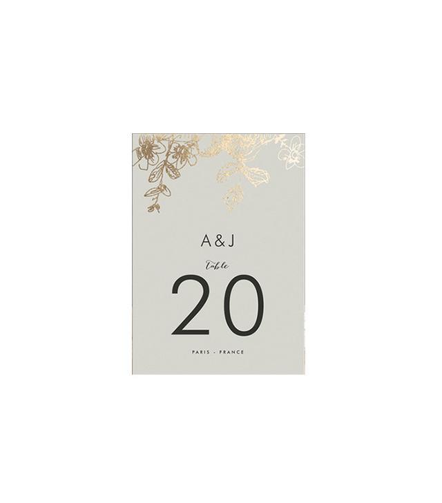 Phrosne Ras Elegance Illustrated Foil-Pressed Table Numbers