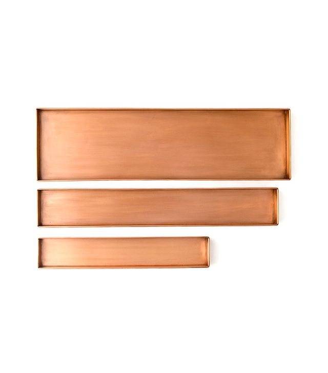 Habit & Form Copper Rectangle Trays