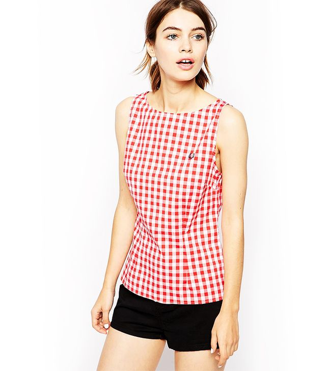 Fred Perry Sleeveless Gingham Top
