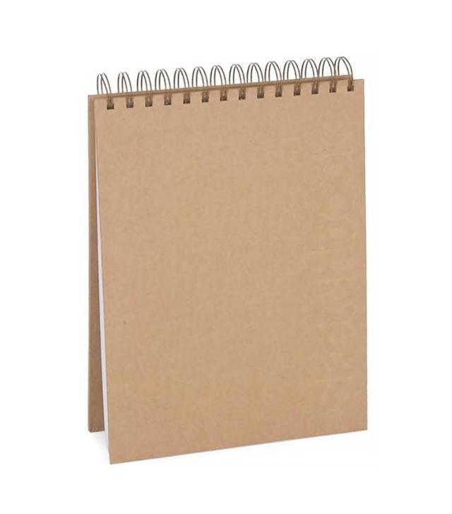 Kraft Embossed Top Spiral Sketchbook