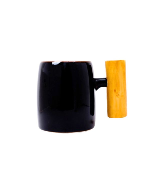 Tortoise General Store Mug With Wooden Handle