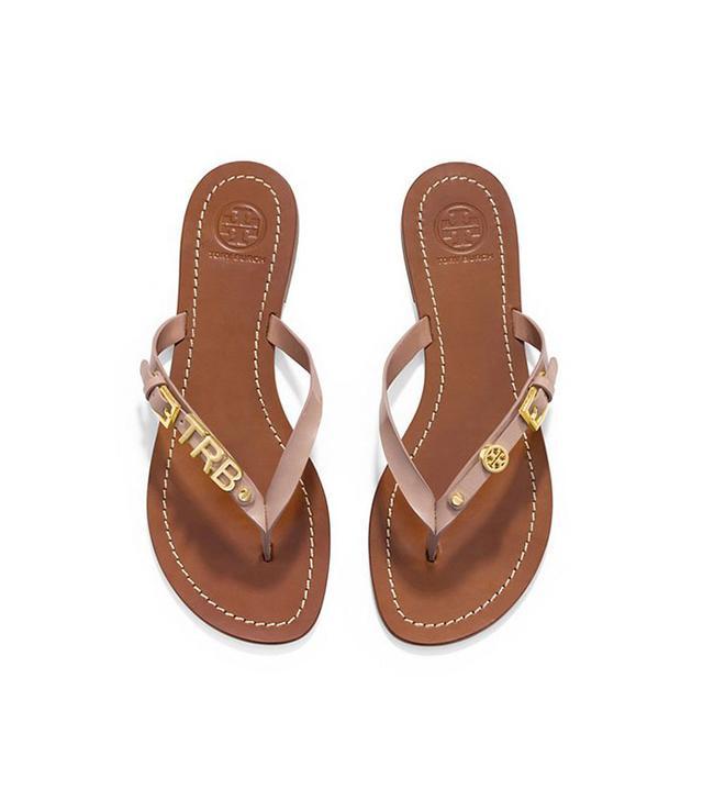 Tory Burch Monogram Flat Thong Sandal