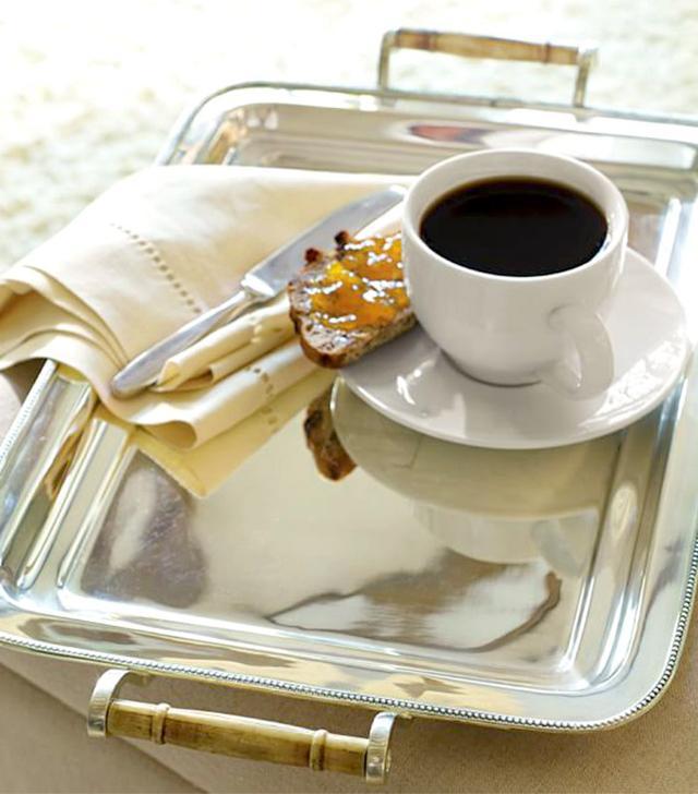 Pottery Barn Silver-Plated Breakfast Tray