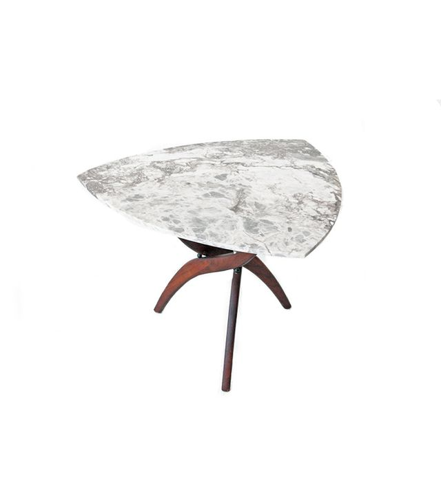 Forest Wilson Marble + Walnut Coffee Table Side Table