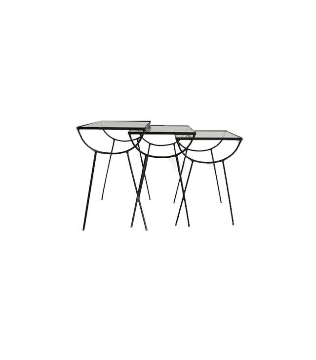 George Nelson for Arbuck Iron and Glass Nesting Tables