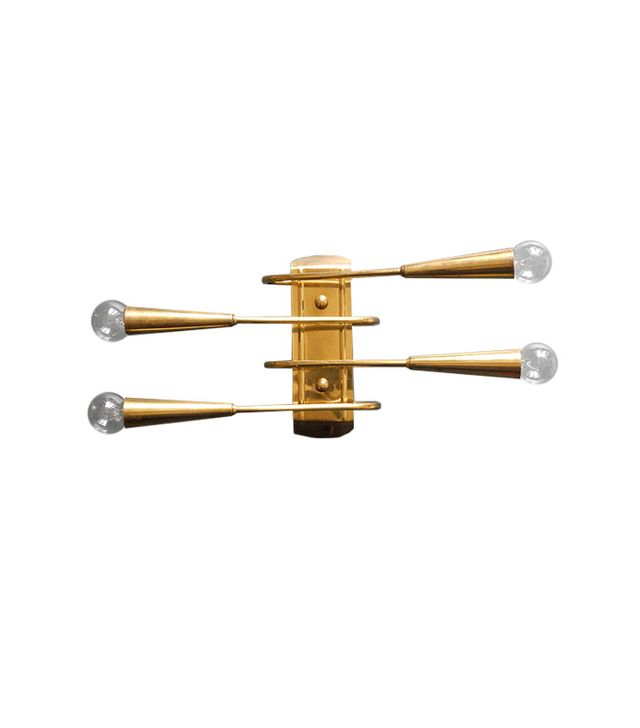 Retro Raum Four Armed Midcentury Brass Wall Lamp