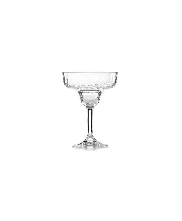 Martha Stewart Collection Hammered Acrylic Clear Margarita Glass
