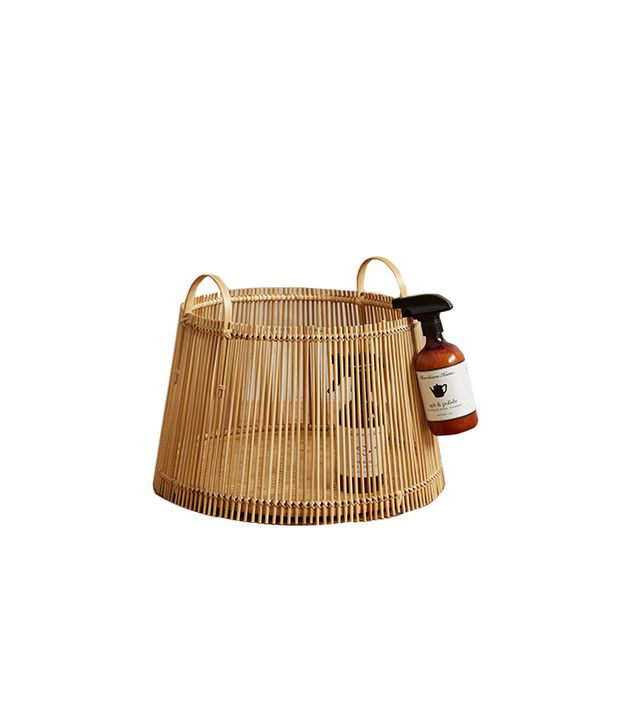 Anthropologie Handcrafted Bamboo Basket