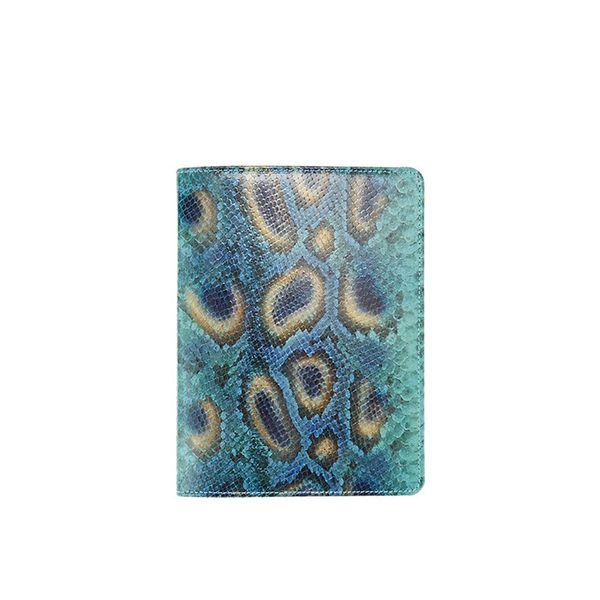 Barneys New York Peacock & Python-Print Refillable Journal