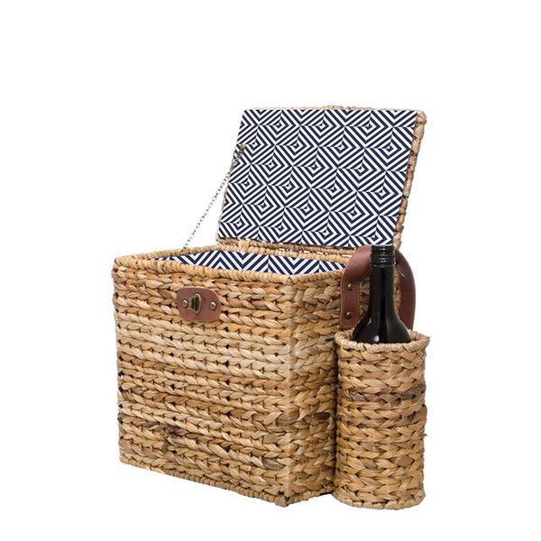 SunnyLife Wicker Picnic Basket