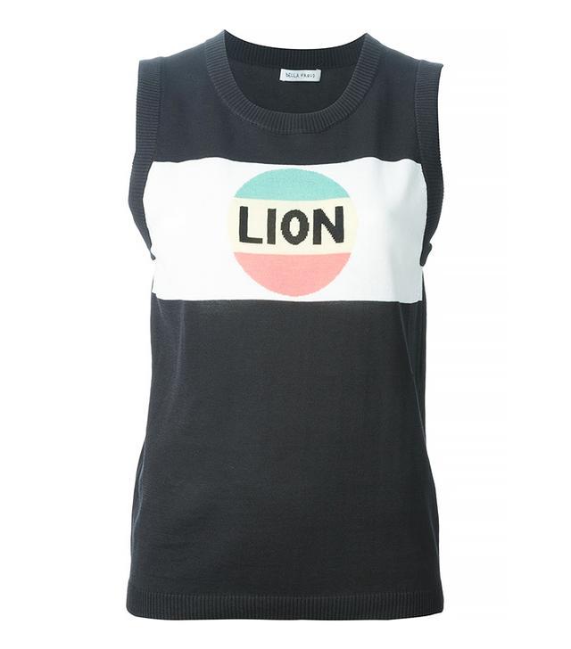 Bella Freud Lion Stripe Tank Top