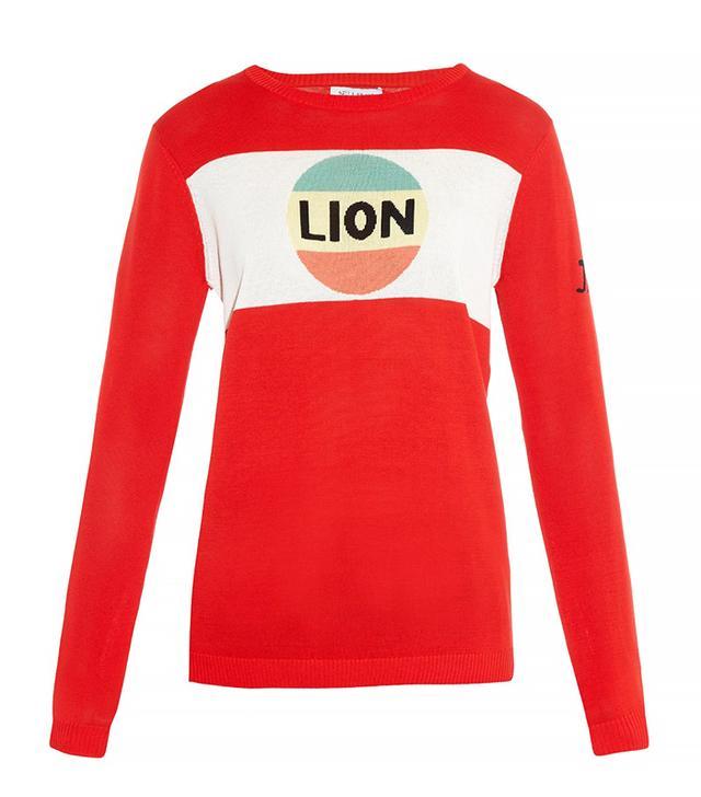 Bella Freud Lion Stripe Cotton-Knit Sweater