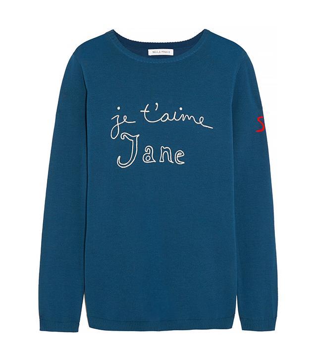 Bella Freud Je T'aime Jane Cotton Sweater