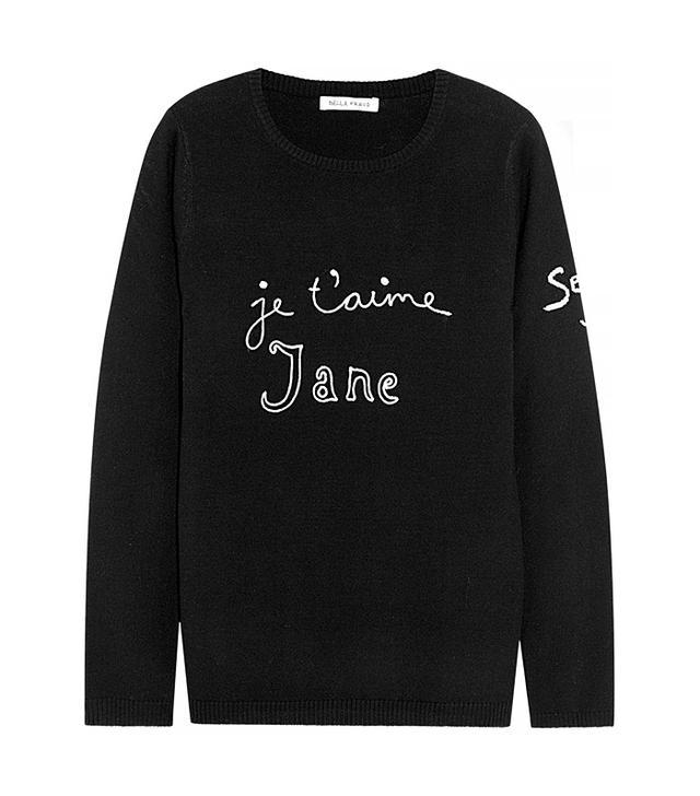 Bella Freud Je T'aime Jane Wool Sweater