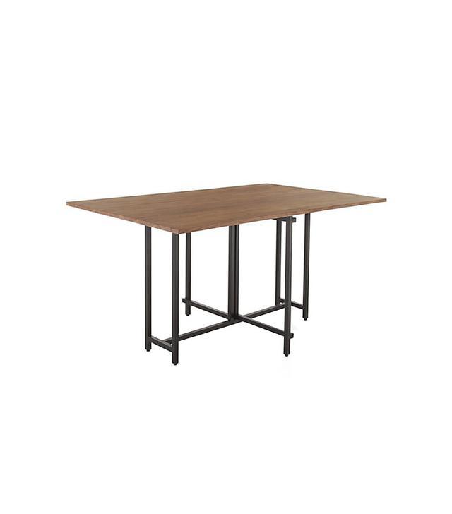 Crate & Barrel Origami Drop Leaf Dining Table