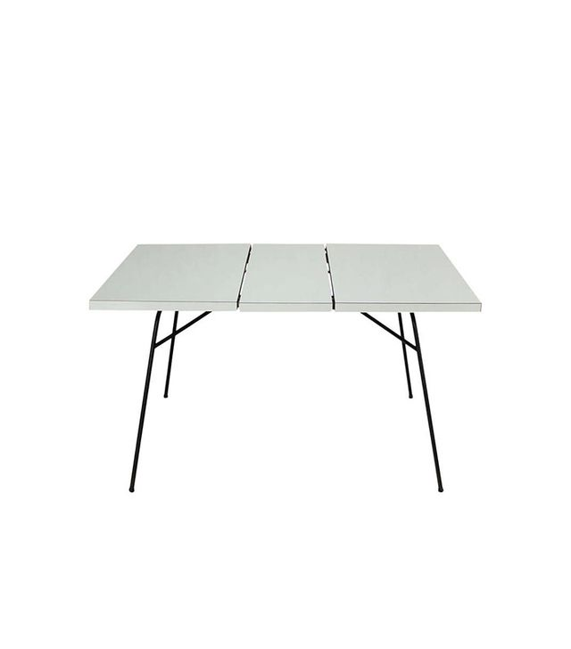 1stdibs Midcentury Petite Wire Leg Dining Table with One Leaf
