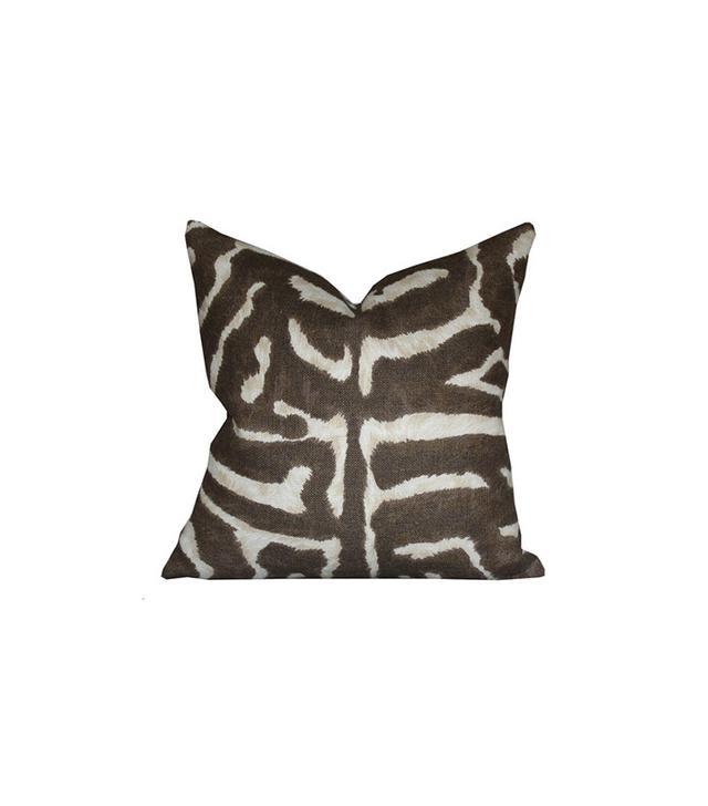 Etsy Serengeti Linen Zebra Pillow Cover