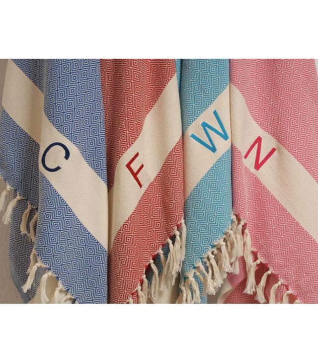 Etsy Custom Embroidered Turkish Beach Towels