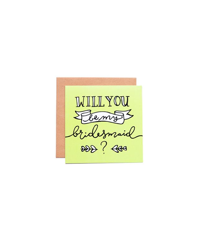 18 Paper Co. Will You Be My Bridesmaid Card in Chartreuse