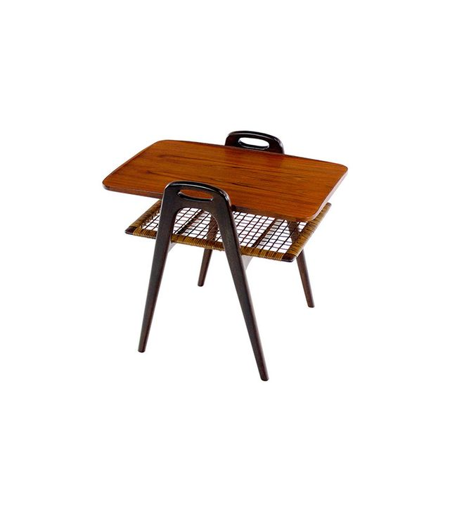 LookModern Danish Modern Teak & Mahogany Side Table