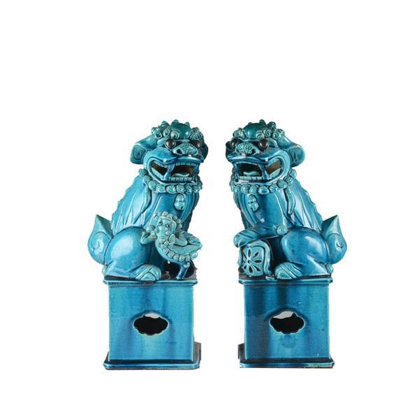 EBTH Pair of Chinese Foo Dogs Circa 1880