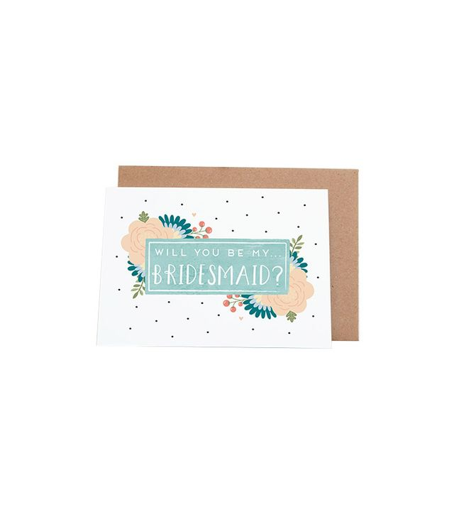 Joanne Hawker Will You Be My Bridesmaid Proposal Card