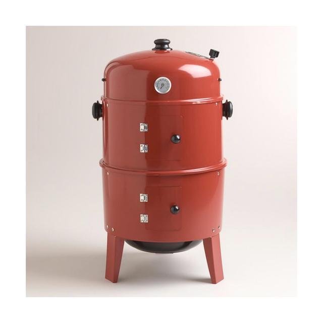 World Market Red Charcoal Smoker