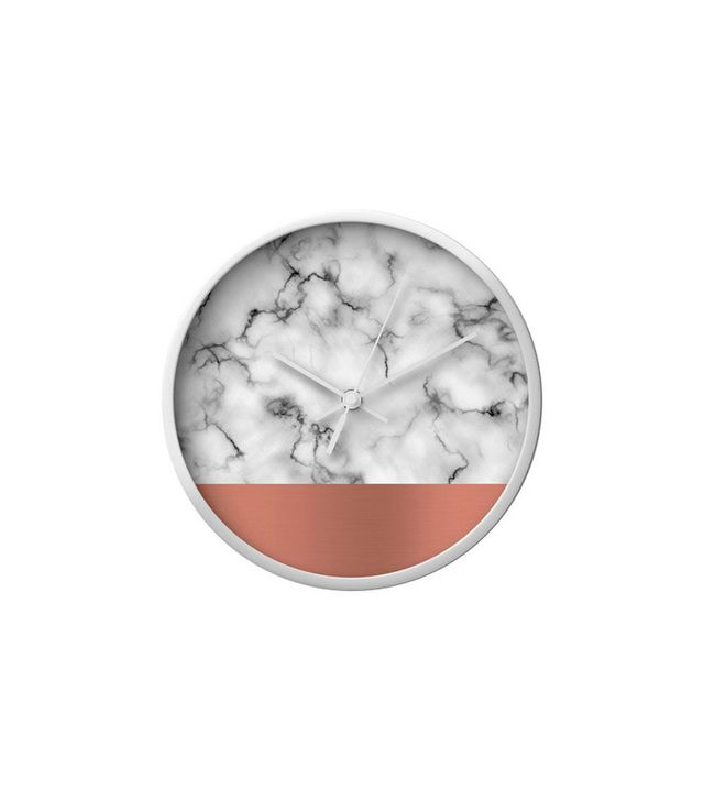 Dot & Bo Marble and Copper Wall Clock