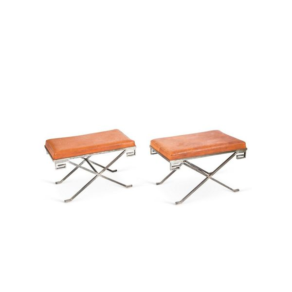 One Kings Lane Pair of Classic X Benches