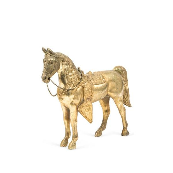 One Kings Lane Gilt-Metal Horse