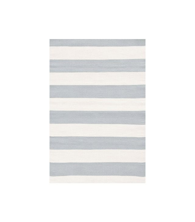 Dash and Albert Ivory Striped Outdoor Area Rug