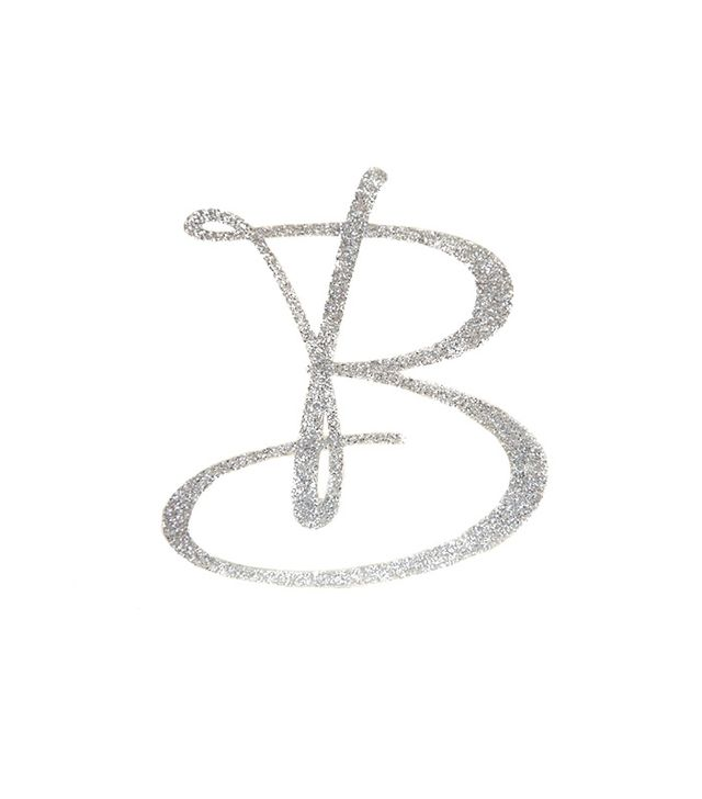 The Pink Owl Designs Personalised Monogram Glitter Topper