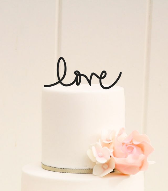 The Pink Owl Gifts Script Love Topper