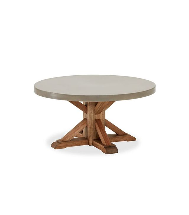 Pottery Barn Abbott Concrete Top Round Coffee Table