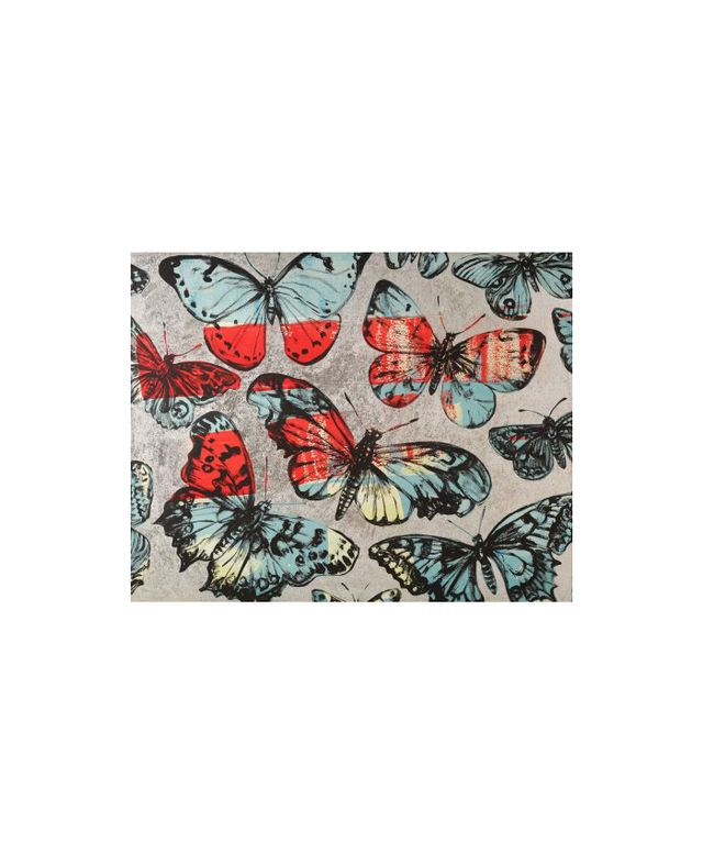 Butterflies Blue Red and Silver by David Bromley