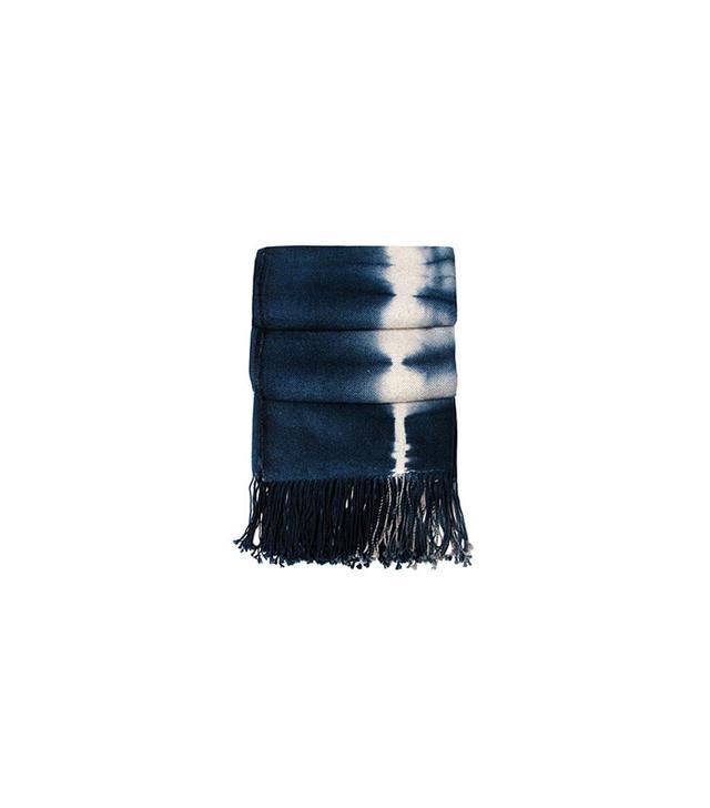 Bliss Home & Design Indigo Shibori Throw