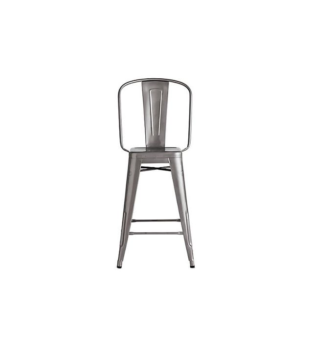 Tolix Marais Counter Stool with High Back