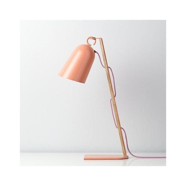 Land of Nod Mixed Media Pink Table Lamp