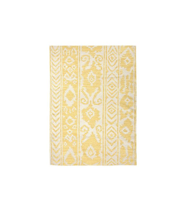 World Market Yellow Lucine Flat-Woven Wool Rug