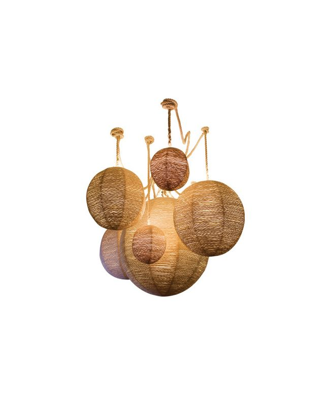 Cuffhome Rope-Wrapped Chandelier