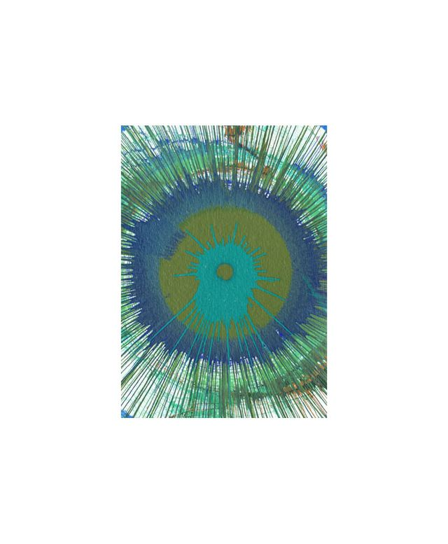 Cuffhome Spin Art Giclee on Canvas in Blue