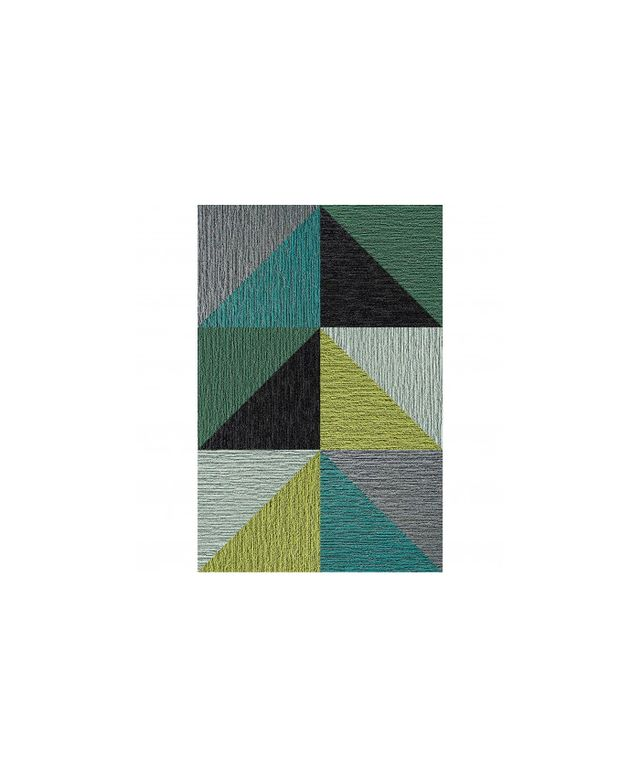 Flor Made You Look Triangle Patchwork Rug