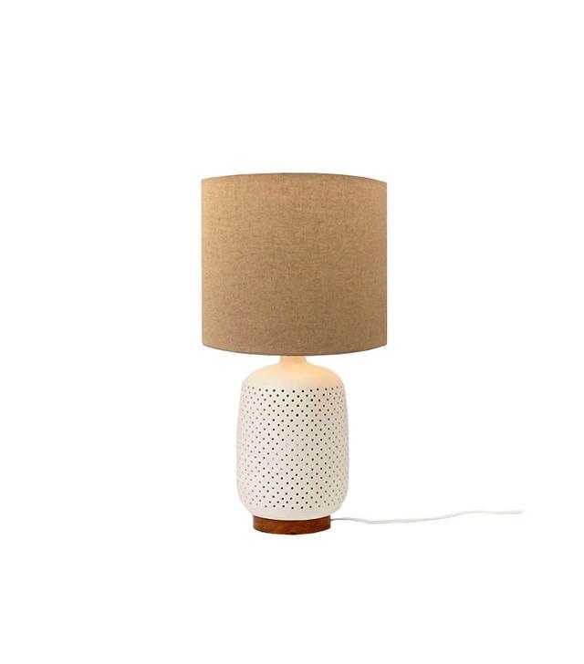 West Elm Pierced Ceramic Table Lamp