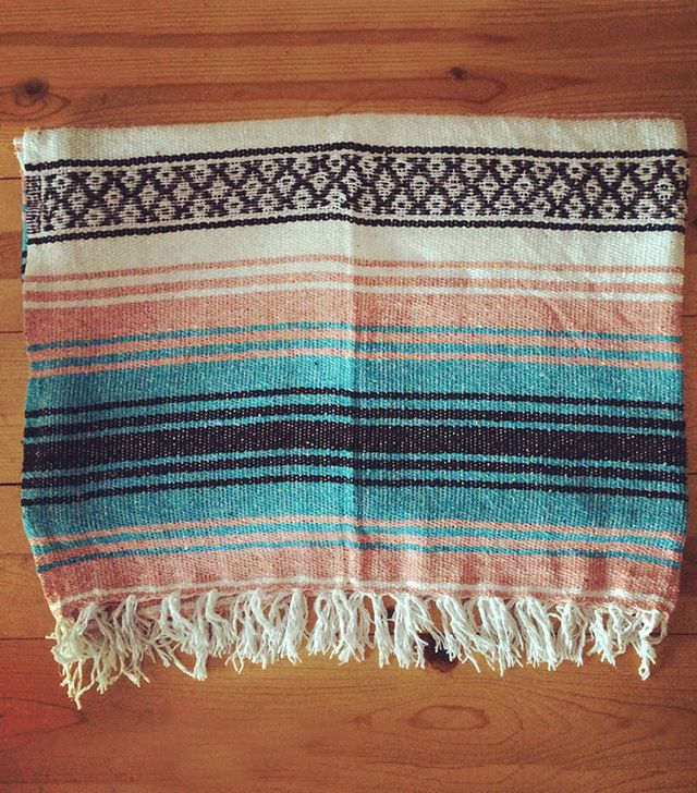 Water and Jewel Mexican Falsa Blanket
