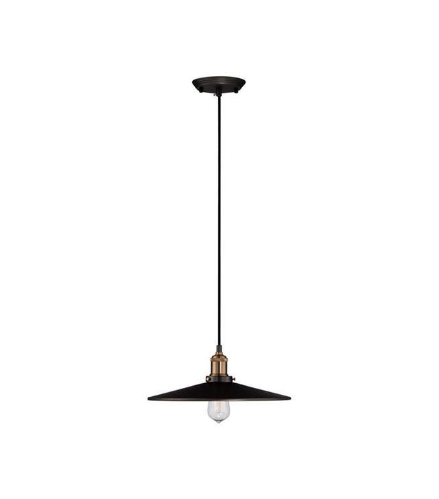Lamps Plus Emile Urban Industrial Wide Gun Black Pendant Light