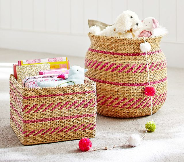 Jenni Kayne x Pottery Barn Kids Pink Woven Basket
