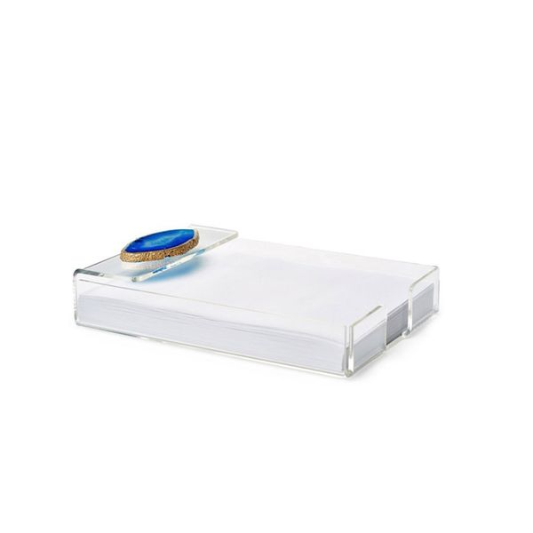 Mapleton Drive Acrylic Notepad Tray with Blue Agate