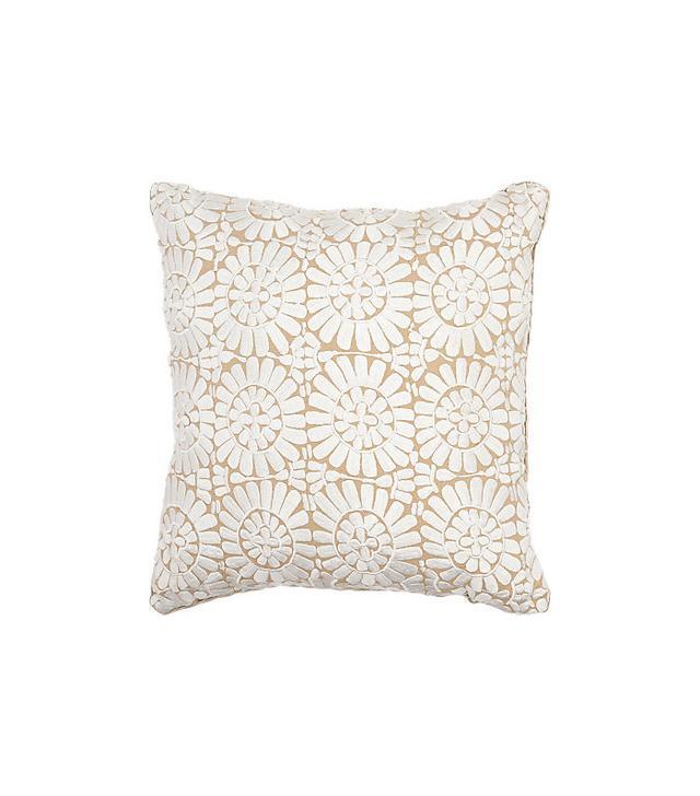 Madeline Weinrib Flower-Embroidered Pillow