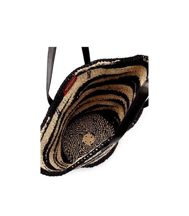 Vix Striped Sisal Tote Bag